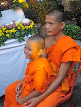 These young brothers are spending a month learning more about religion at a Buddhist camp.