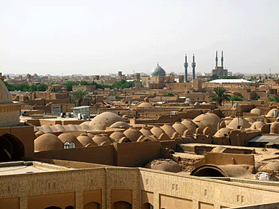 A view of the Iranian desert city of Yazd, where many Iranians have their honeymoons.