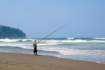 Fishing at Parangtritis beach