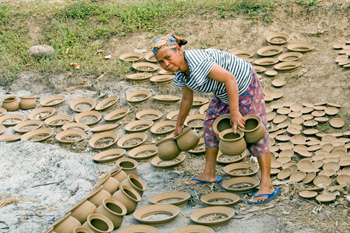 Pottery making near Borobudur