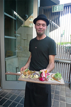 """Vegetarian """"Charcuterie"""" at Gather."""