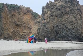Pfieffer Big Sur Beach scene. Nobody goes in the water here