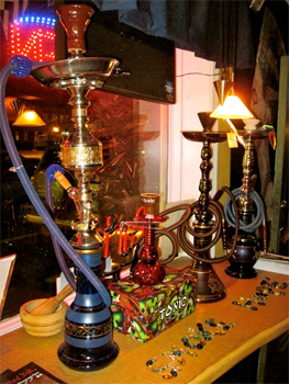 Enjoy a hookah at Nazef, in Norfolk.