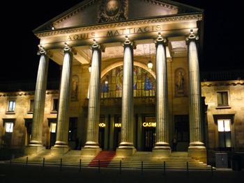 The casino in Wiesbaden. Aquis Mattiacis was the Latin name for the city.