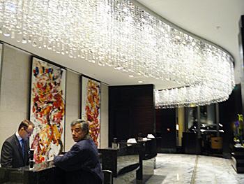 The lobby of the Jumeirah Frankfurt