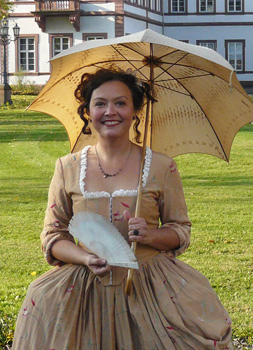 Nina Schneider, dressed as Rose Dorothy, second mistress of Landgrave Wilhelm V
