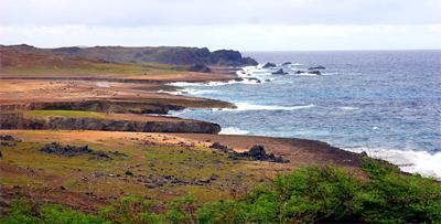 Limestone coast on the northeast side of Aruba.