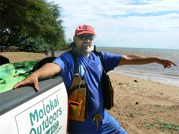 Kalani, my native Hawiian kayaking guide.