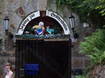 The entrance to the Grotto