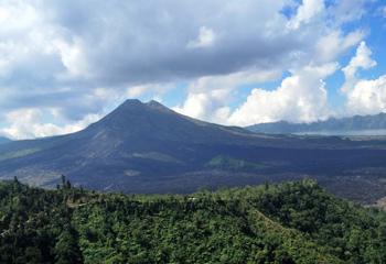 Mount Batur,an active volcano in Bali