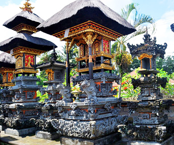 They say there are more temples than houses in Bali.