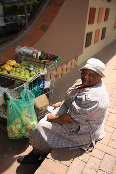 Fruit vendor in Cape Town.