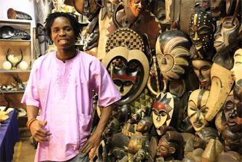 A vendor in Rosemont African Market, in Johannesburg.
