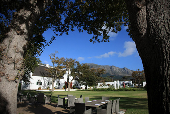 The elegant Steenberg Hotel, voted Number One Hotel in Africa by Conde Nast Readers.