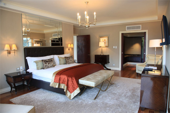 A sumptous suite at the Taj Hotel, Cape Town.