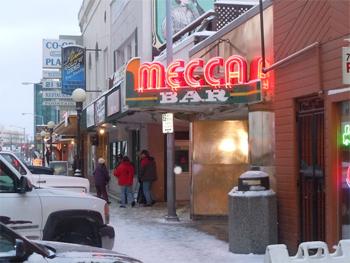Mecca bar, downtown Fairbanks.