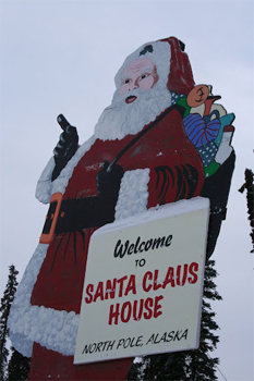 Santa Claus House, 'North Pole' in Fairbanks.