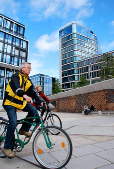 Bicycle and foot paths encourage exercise and well-being.