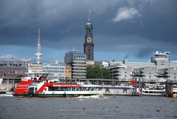 Marine Hamburg Boat Cruise on the River Elbe