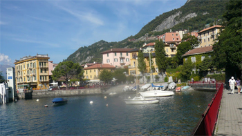 Varenna harbor.