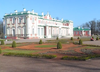 Kadriorg Palace, built in 1718 by Peter the Great of Russia for his wife Catherine, now houses the foreign art collection of the Art Museum of Estonia.