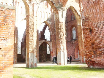 Tartu Cathedral was begun in the 13th century and destroyed in the 16th century.