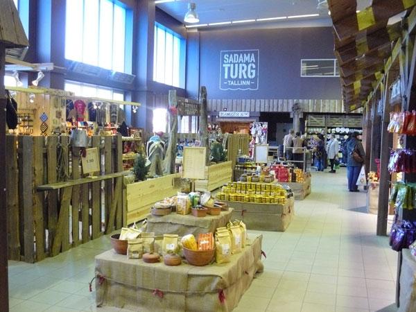 The Estonian Food Market by the harbor in Tallinn