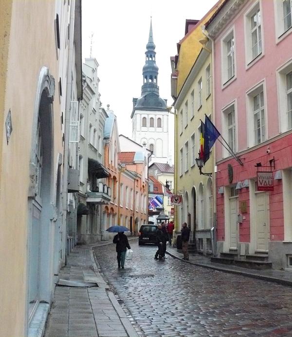 The Lower Town in Tallinn, Estonia