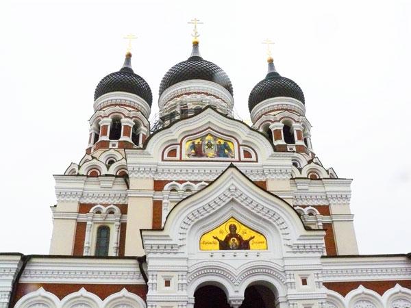 The Alexander Nevsky Cathedral in Tallinn, Estonia