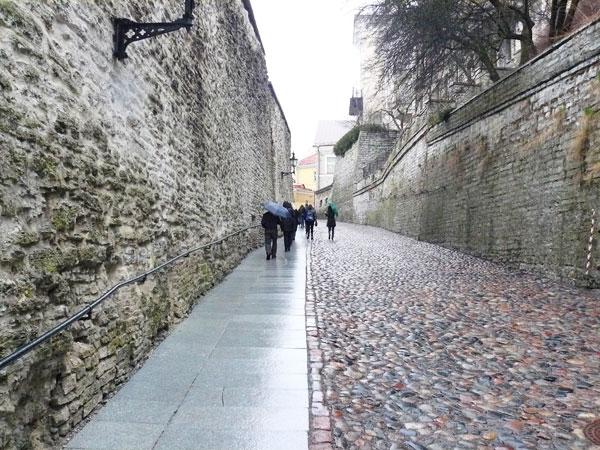 A street in the Upper Town in Tallinn, Estonia