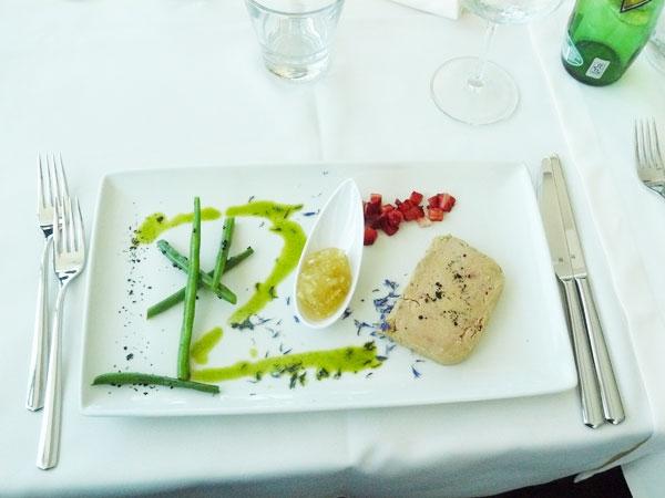 The foie gras was magnificent.