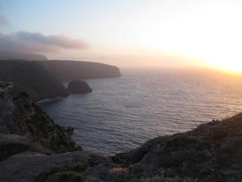 Cavern Point at sunset.