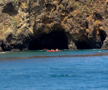 kayakers in the Channels.