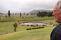 John Donelly of Mercury Bay Estate Cellars at Cooks Beach.