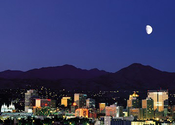 Nighttime in Salt Lake City. photos by Sonja Stark.