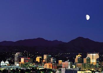 Nighttime in Salt Lake City. photos by Sonja Stark.