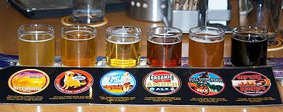 Beer assortment at Squatters, Salt Lake City.