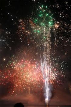 Fireworks at a Darwin celebration.