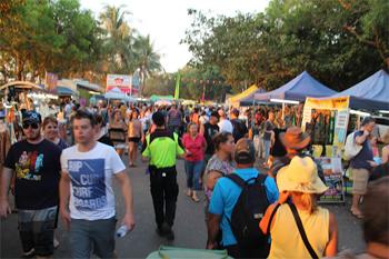 The Mindil Beach Market in Darwin.