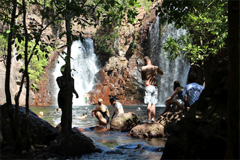 Cooling off at a Darwin swimming hole.