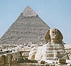 The sphinx and the pyramind at Giza