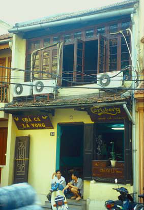 The 135-year-old Cha Ca La Vong Restaurant, on Cha Ca Street.