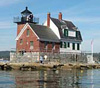 The Breakwater Lighthouse in Rockland, Maine