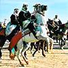 A horseman at the Douz Festival in Tunisia