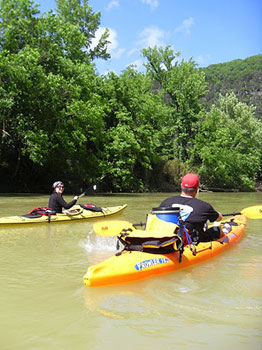 Saco Bound offers kayak rentals and guided routes along the different river water ways along the Saco River.