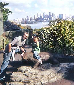 The view of Sydney from Taronga Zoo: George's dream come true.