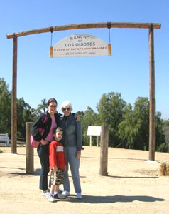 The author with her mother and son at the Camillo Ranch