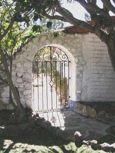 The hacienda gate at the Camillo Ranch