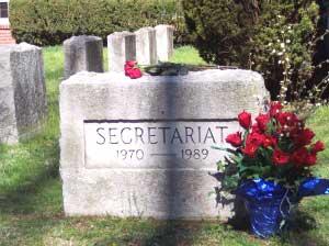 The resting place of Scretariat at Clarborne Farm