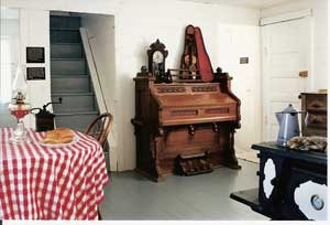 The interior of the Surveyors' House - photo courtesy of the Laura Ingalls Wilder Memorial Society